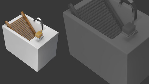 3ds max sink laundry