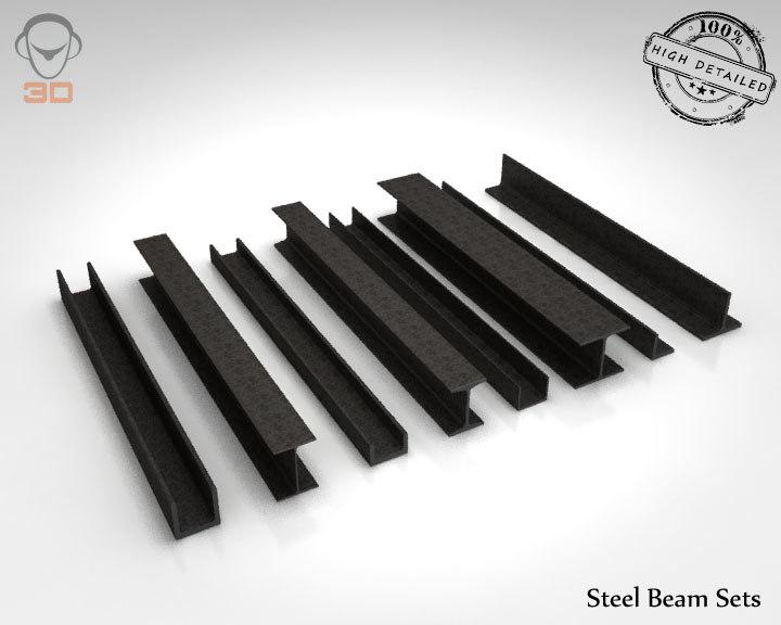 3d steel beam sets model