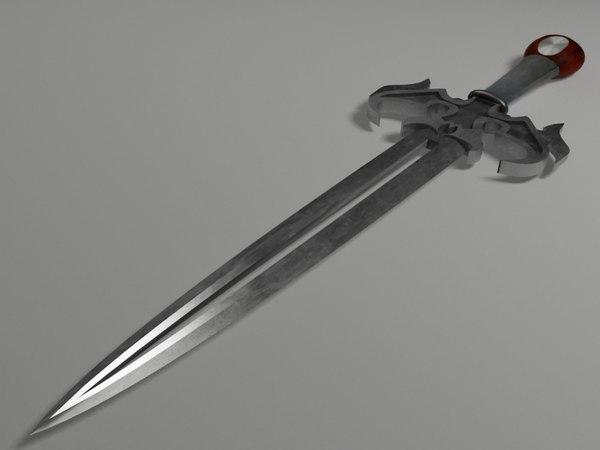 3d fntsy sword model