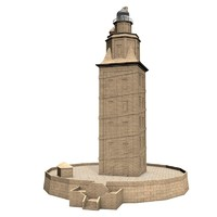 3d model lighthouse tower hercules
