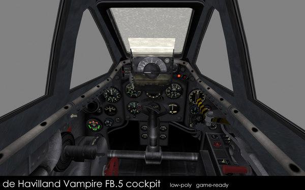 3d model havilland vampire fb 5