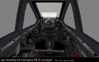de Havilland Vampire FB.5 cockpit