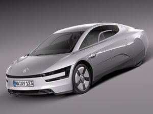 3d 2014 volkswagen xl1 model
