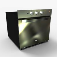 3d oven horno model