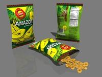 banana chips 3d model