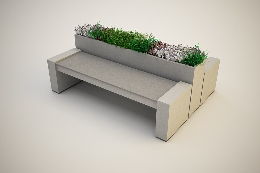 outdoor bench 3d 3ds