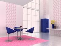 3d model breakfast room scene break
