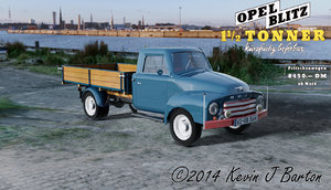 oldtimer pickup 3d model