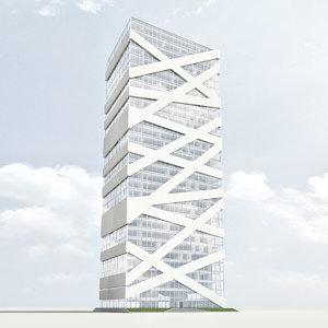 3d building skycraper