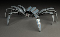 3d mechanical spider model