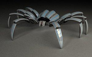 3d mechanical spider model