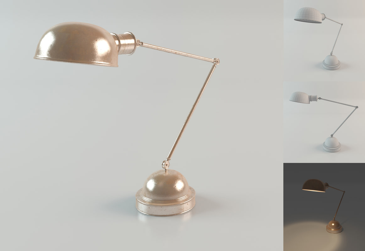 lamp table soho 3d obj