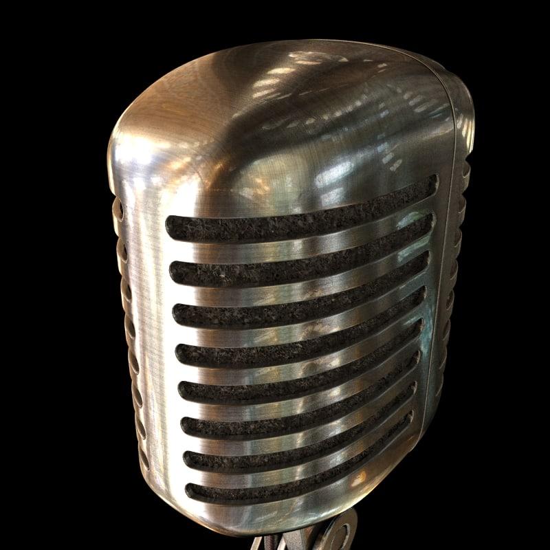 model of shure 55sh microphone