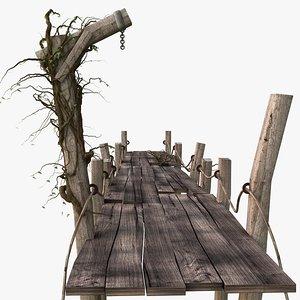 wooden pier 3d model