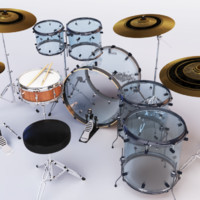 Drum Set Acrylic