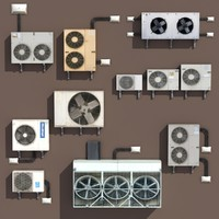 Air conditioning PACK  Low Poly 3d Modle