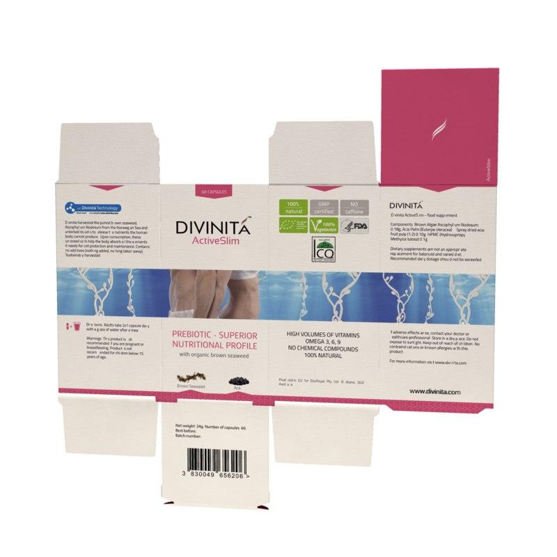 capsule packaging box pills 3d model