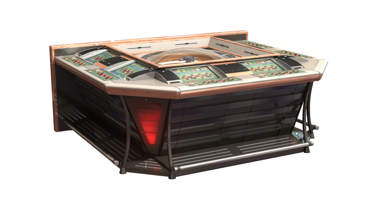 electronic roulette casino 6 3d model