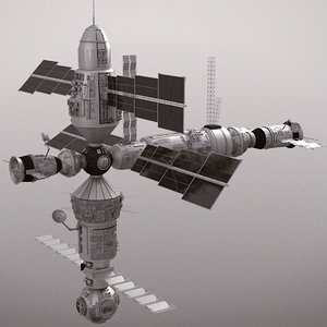 3d satellite mir inspired