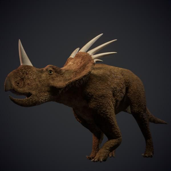 3d model styracosaurus