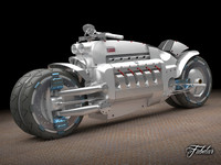 dodge tomahawk concept motorcycle 3d max