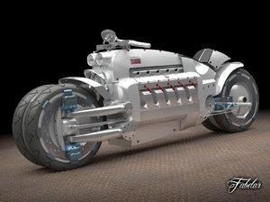 dodge tomahawk concept motorcycle 3d max