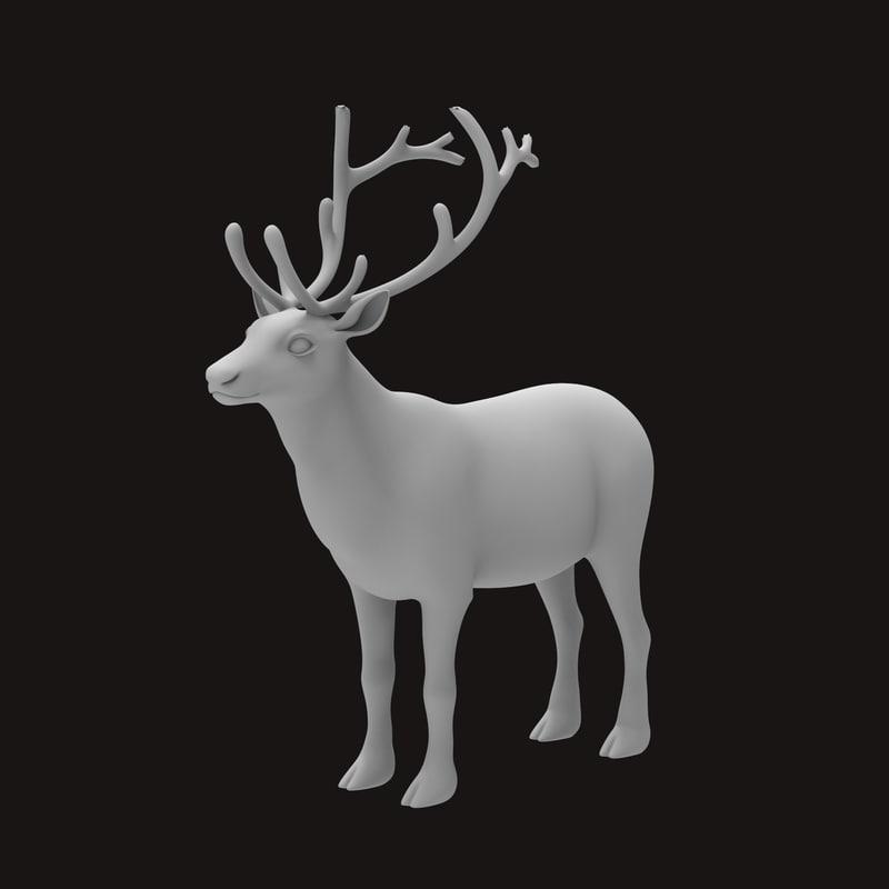 reindeer does 3d model