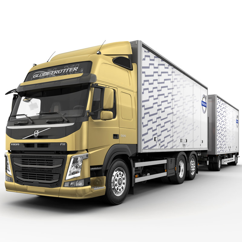 fm 6x2 trailer 3d c4d
