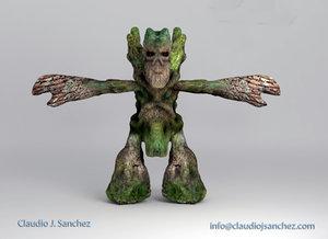 3d model man tree
