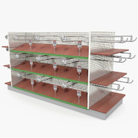 Hardware Store Shelves Stand