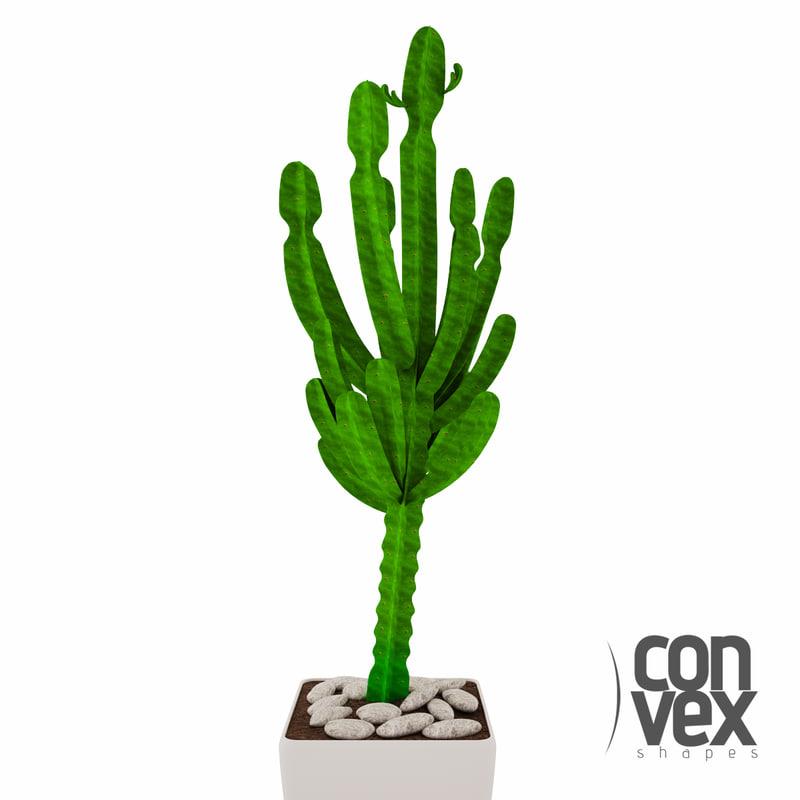 3d model potted plants 03