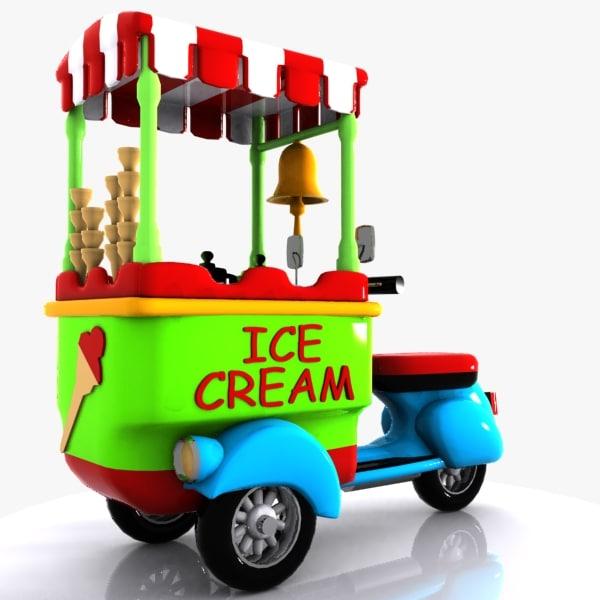 3d cartoon icecream bike model