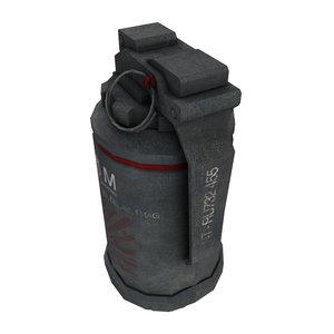 frag grenade 3d max