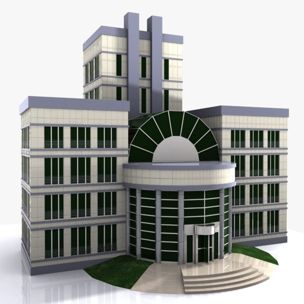 cartoon building toon obj