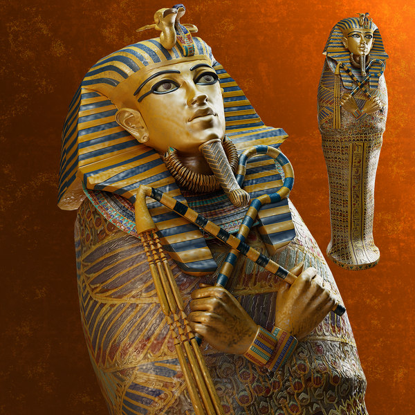 sarcophagus tutankhamun 3d model