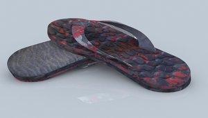 3d model chancletas shoes