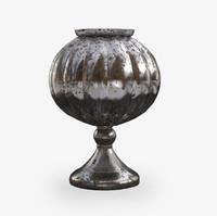3d vintage metal cup model