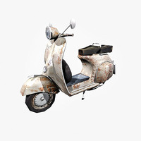 photo realistic vespa scooter 3d model