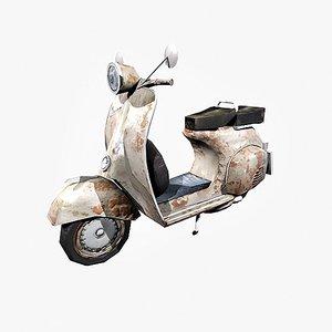 photo realistic vespa scooter 3d model