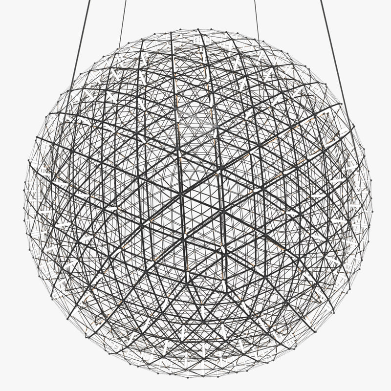 chandelier moooi raimond led lights 3d max