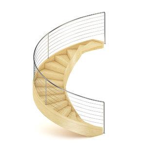 wood wooden spiral c4d