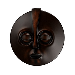 3d african africa mask model
