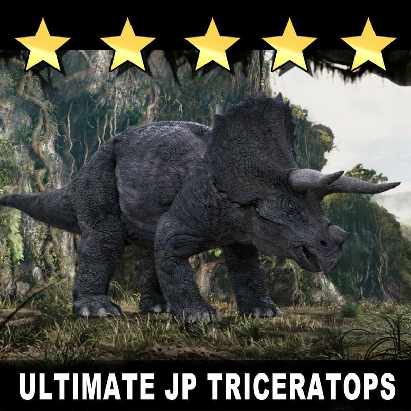 3d model rare triceratops dinosaur