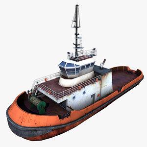 3d tug boat tugboat model