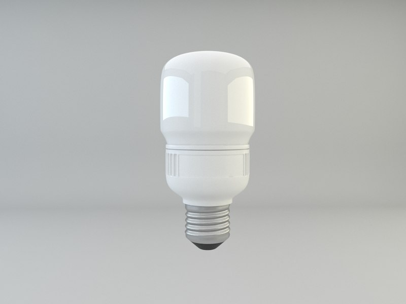 energy efficient cfl light bulb 3d 3ds