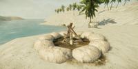 campfire camp 3d model