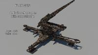 Flak gun with camouflage