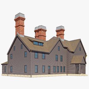 3d gablefront house