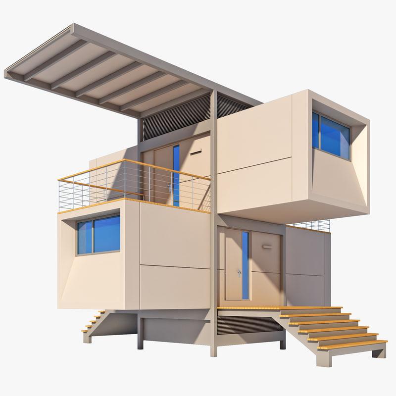 3d green home model