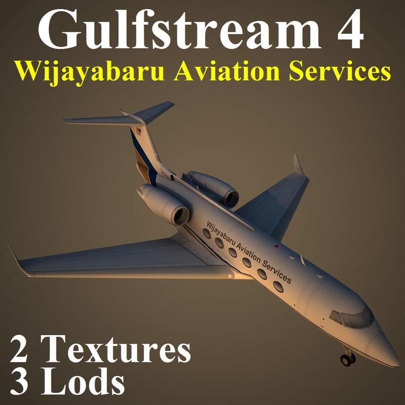 gulfstream 4 pv2 3d model